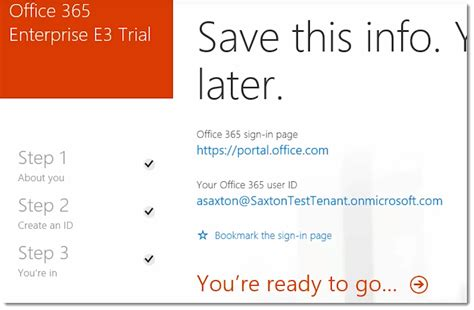 Office 365 Portal Trial by How To Create A Trial Tenant In Office 365 Microsoft