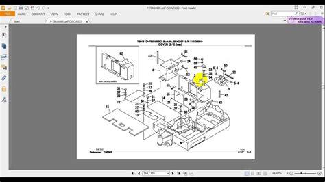 takeuchi excavator tb parts manual  youtube