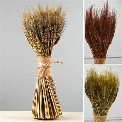 Natural Dried Wheat Bundle - Table Decor - Home Decor - Factory Direct Craft