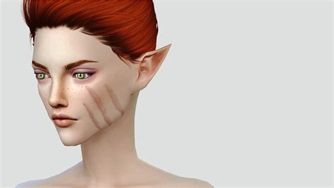 Face Scars By Nenps Sims 4 Panda Cc