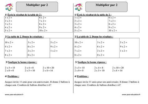 multiplier par 2 ce1 exercices corrig 233 s math 233 matiques cycle 2 pass education