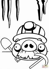 Coloring Pig Angry Birds Pages Moustache Chest Mustache Treasure Drawing Line Open Printable Foreman Characters Supercoloring Template Getdrawings Cartoon Categories sketch template