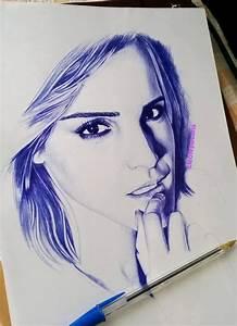 Emma ballpoint pen drawing by cLoELaLi11 on DeviantArt