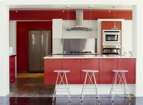 decoracion de cocinas contemporaneas cocinas rojas