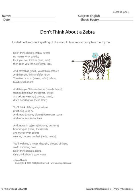 poetry dont    zebra