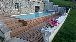 promo piscine bois semi enterree ciabizcom With comment amenager sa piscine 10 piscine semi enterree conseils prix installation
