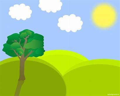 Landscape Spring Clipart Background Vector Clip Nature