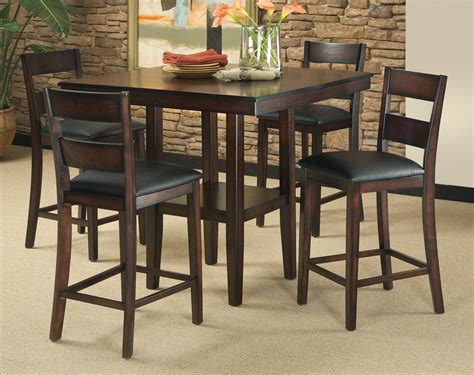 Bar Height Dining Room Table Sets 5 Counter Height Dining Room Set Table Chair Dinette