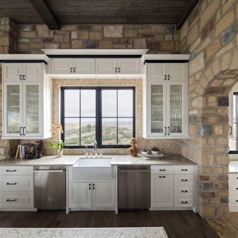 stone walled kitchen designs decorating ideas
