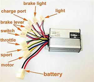 36v48v 1000w Scooter Brush Motor Controller Motor