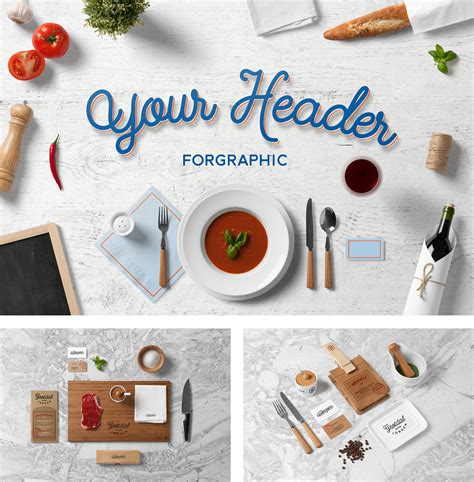 restaurant food mock  psd templates forgraphic