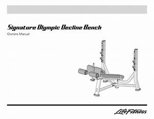 Signature Signature Olympic Decline Bench Manuals