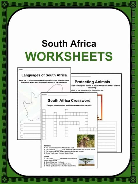 south africa facts worksheets history information  kids
