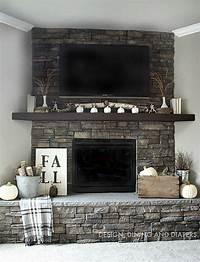 excellent rustic mantel decoration ideas Neutral Fall Mantel | Bloggers' Best DIY Ideas | Fireplace design, Fireplace mantels, Fireplace ...
