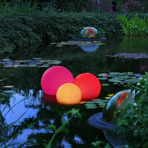 floating pond lights orb lighting ideas for pool and patio