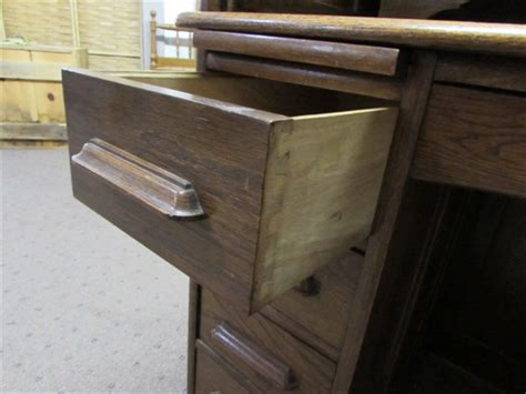 lot detail antique solid oak roll top desk