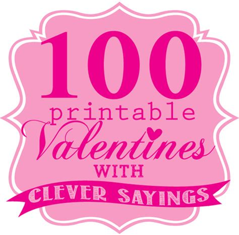 Printable Valentines with Cute Sayings | Skip To My Lou