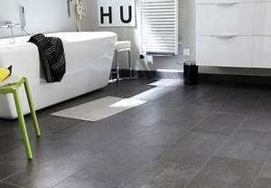8 sols deco pour une salle de bain grise deco cool With sol antiderapant salle de bain