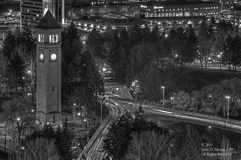 A view of Spokane's Riverfront Park, from the rooftop of ...