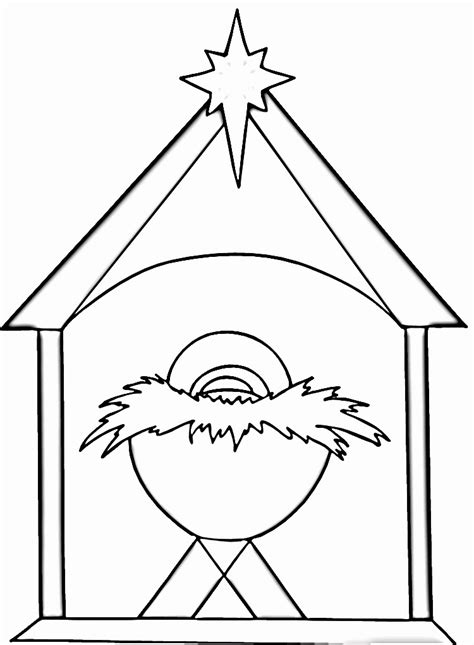 baby jesus manger coloring page coloring home