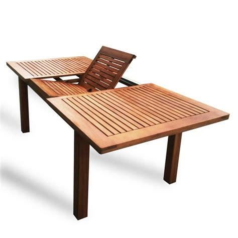 Buy Outdoor Table by Luxo Montague Timber Extendable Outdoor Dining Table In