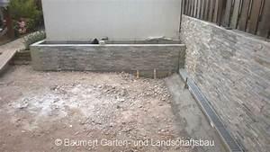 L Steine Verkleiden : baustelle natursteinplatten travertin baumert garten und landschaftsbau ~ Frokenaadalensverden.com Haus und Dekorationen