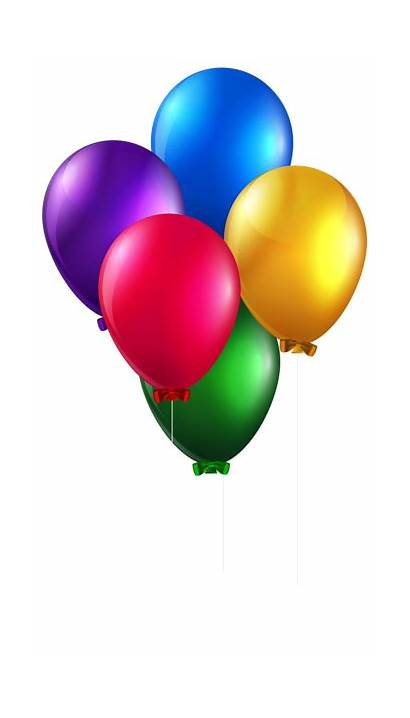 Balloons Clip Clipart Colorful Balloon Birthday Background