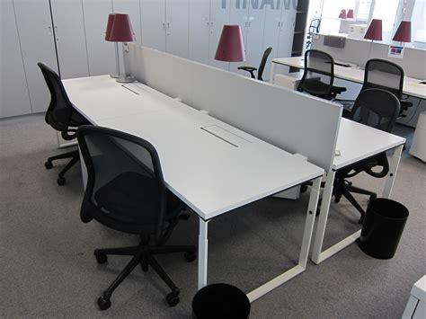cloison bureau occasion bench knoll blanc 4 postes avec cloison adopte un bureau