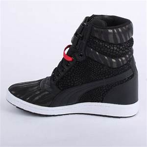 Puma Sky Wedge 355798 03 Womens Laced Velcro Leather