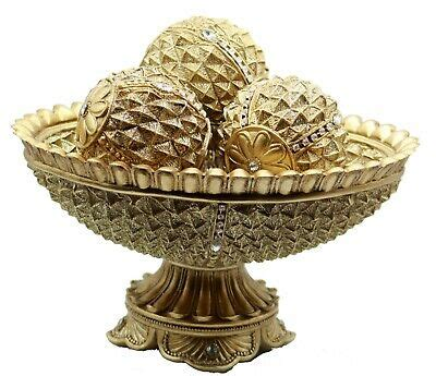 Have you done any fall decorating around your home? Crystal Home Decor Tray and 3 Orbs Balls Coffee Table Centerpiece Bowl Accents 695924982473 | eBay