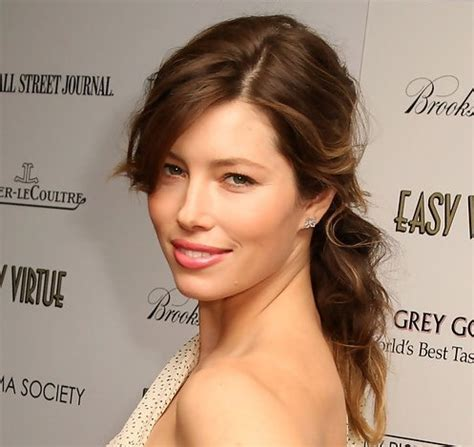 Jessica Biel Long Hairstyle: Loose Ponytail with Long Side