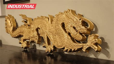 cnc project  foam golden dragon wdd carving zrn