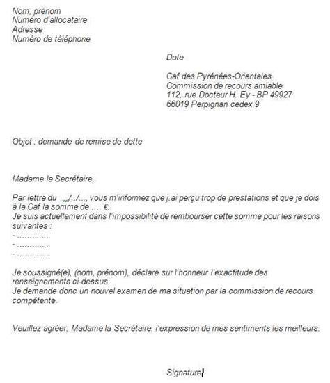 modele lettre reclamation caf gratuit 13 lettre de remise de dette usssandiego