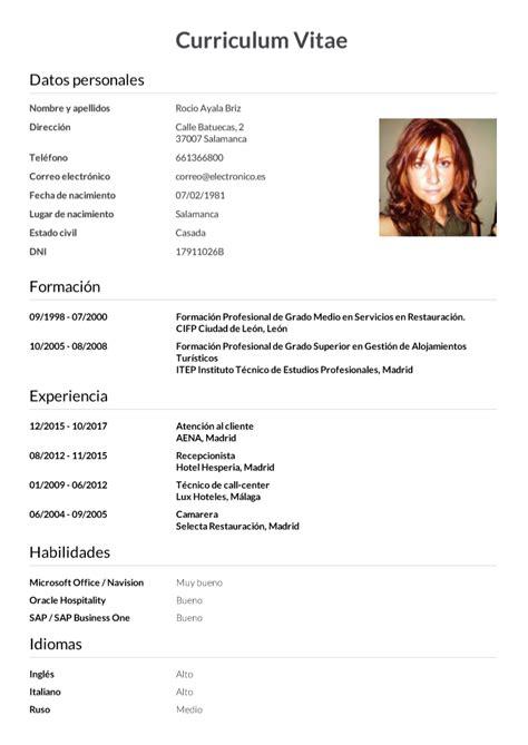 Cv Wizard by Formato De Curriculum Vitae En Espanol