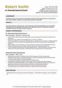 Professional Skills On Resume Unarmed Security Guard Resume Samples Qwikresume