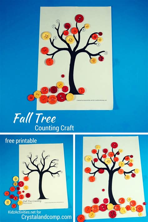 fall tree counting craft for preschoolers crystalandcomp 489 | Fall Tree Counting Craft2