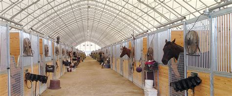 horse barns  riding arenas clearspan