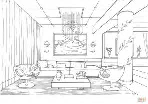 Coloring Living Room by Living Room With Fireflies Coloring Page Free Printable