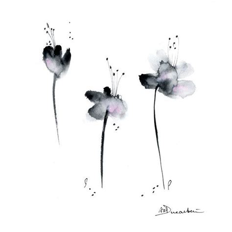 Abstract Black Flower Painting by Image Result For Black Abstract Poppy Watercolour Painting