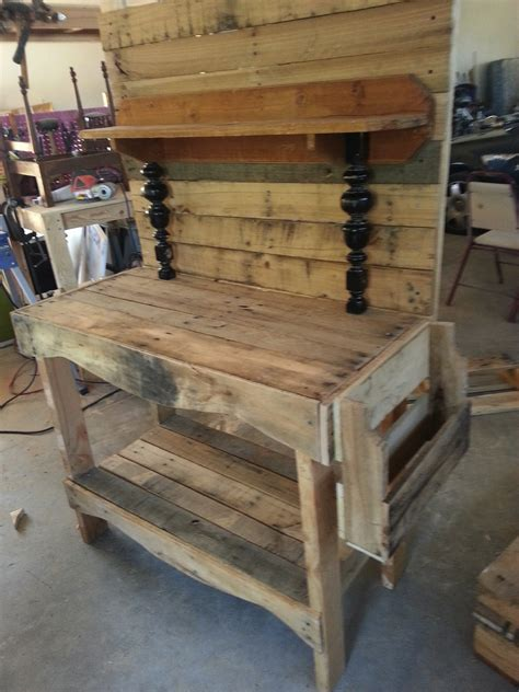 plans pallet potting bench   woodworking plans wood train dramaticgwh