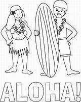 Coloring Hawaiian Aloha Hula Colouring Hawaii Kumu Haumana Ia Library Clipart sketch template