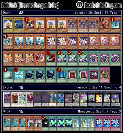 Hieratic Deck List by Ocg 2015 01 With Ruler Road Of The King