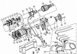 T max winches ew series winch parts list for Winch motor parts diagram motor repalcement parts and diagram