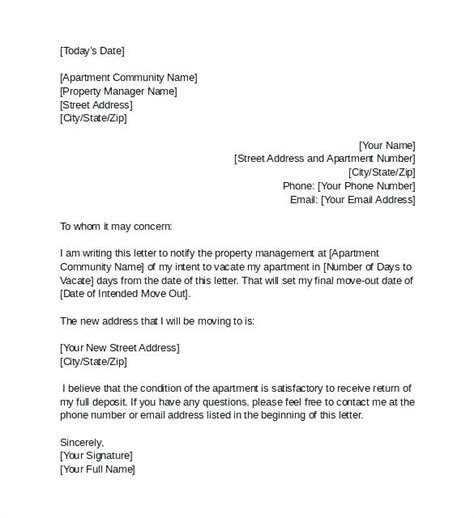 sample vacate letter  tenant gulflifaco