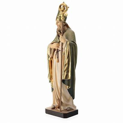 Statue Painted Gardena Val Patrick Saint Wood