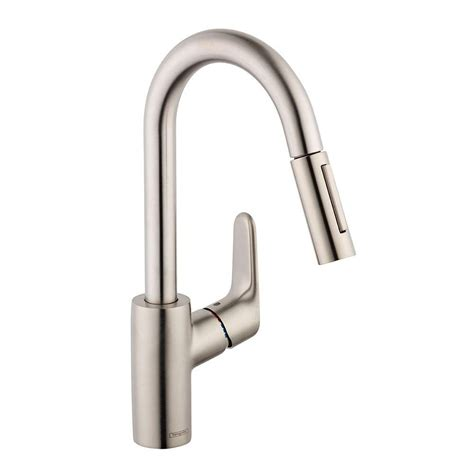 hansgrohe kitchen faucets hansgrohe focus prep single handle pull sprayer