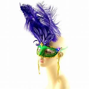 Mardi Gras Light-Up Feather Mask [25919MGAJ ...
