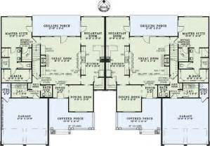 House Plans For Two Families Ideas by Barrington Place Multifamily Plan Cottage House Plan