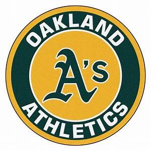 FANMATS MLB Oakland Athletics Green 2 Ft X 2 Ft Round