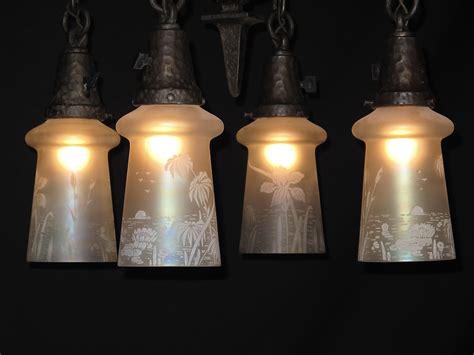 hammered arts crafts lighting fixture antique lighting